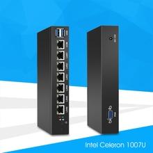 Mini PC with 6x 1000Mbps Gigabit LAN Intel 82583V NIC Multiple Ethernet Ports Serial COM VGA USB 3.0 Soft Router IPC Pfsense