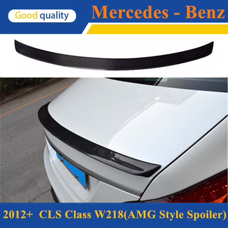цена на Mercedes CLS W218 C218 2012 13 14 15 AMG style cf rear trunk wings spoiler for benz CLS 280 CLS300 CLS350 CLS500 CLS550