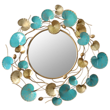 Big Metal Wall Mirror Round props