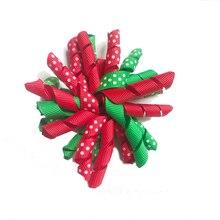 Natale Nastro per Capelli Pinze di Natale korker archi dei capelli del korker fiocco colorato Pinze di colore della miscela boutique korker archi dei capelli corker