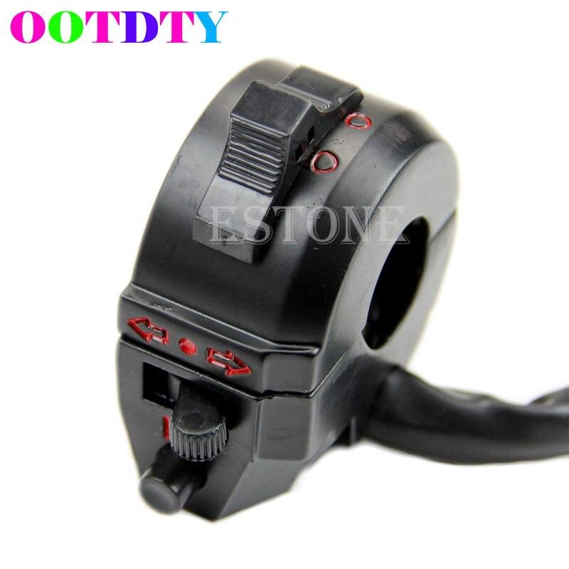 Motorcycle 7/8 Handlebar Control Horn Turn Signal Light Hi/Lo Beam Left Switch 7 8 left