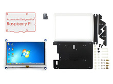 module Raspberry Pi Display 5 inch HDMI LCD 800*480 Touch Screen Support Various Systems+Bicolor Case+8GB Micro SD Card=RPi Acce