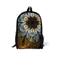 Fashion Children School Backpack Flower Prints Customized Zipper Polyester High Capacity School Bag Elementary Student Book