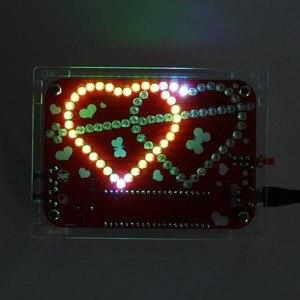 Image 2 - Eletrônico criativo diy kit rgb led duplo coração em forma de música de luz com kit de concha electronique colorido diy kit eletrônico