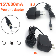 NEW 1PCS Output DC 15V800mA Charger EU US Plug Switch Power Supply Adapter Converter with 1