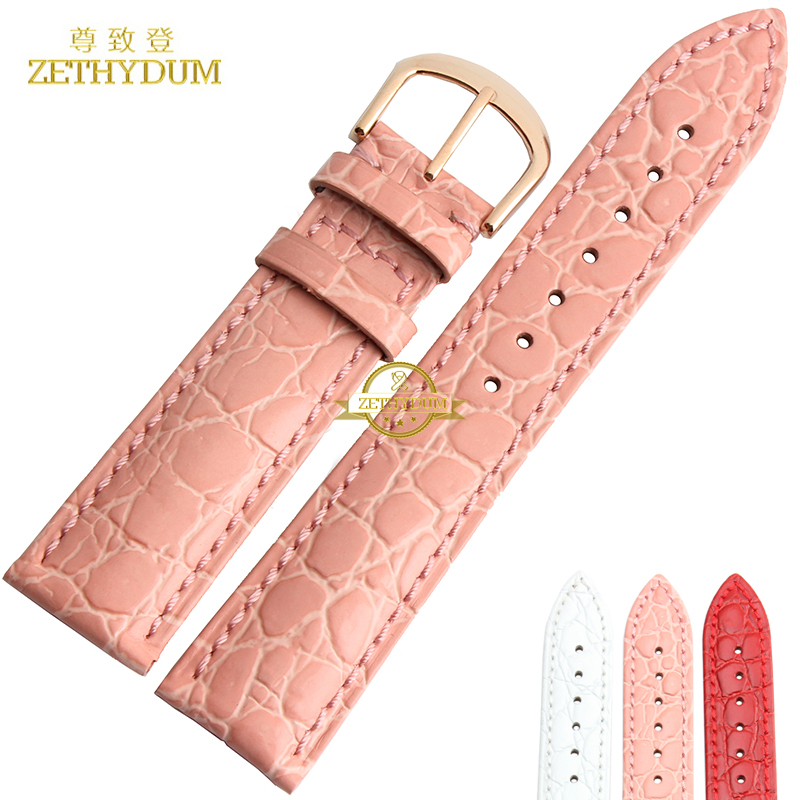 Genuine leather watch strap womans bracelet watch band fashion watchband wristwatches belt multicolor 20mm pink red white color amumu guitar strap sbr memory foam plus rubber band belt with genuine leather ends 110 130cm s529