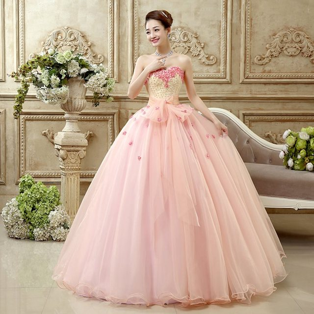 3f52e9d5a Actualización Vestido de quinceañera de moda de un hombro vestido de fiesta  de flores dulce 16 ...