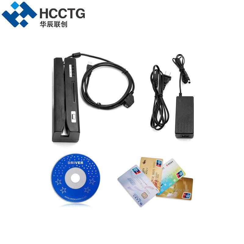 Lecteur de carte à puce magnétique et Support d'écriture IC & NFC & Mifare & MSR & RFID & carte Psam lire tout en un machine pour système bancaire HCC80 - 3