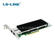 LR LINK 9802BT 10GB adaptador de servidor Ethernet puerto dual PCI E de la tarjeta de red Lan controlador NIC Intel X540 T2 Compatible