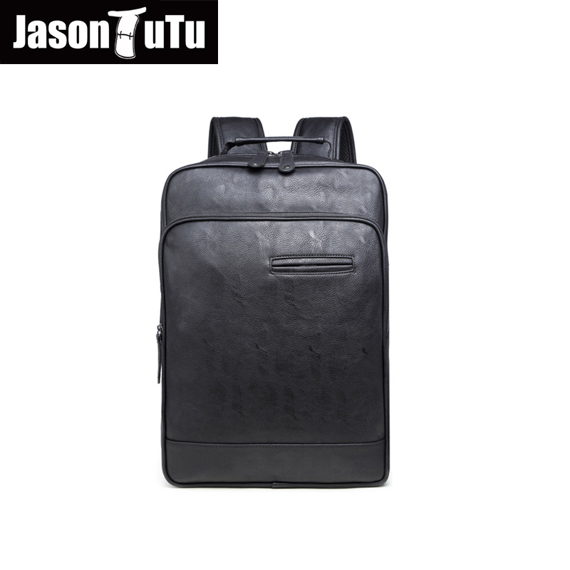 JASON TUTU 14/15 inch laptop backpack / High quality PU black backpack school back pack /2016 promotions Leather backpack B223JASON TUTU 14/15 inch laptop backpack / High quality PU black backpack school back pack /2016 promotions Leather backpack B223