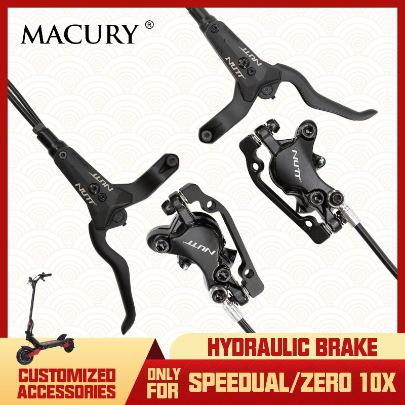 Macury Hydraulic Disc Brake Set only for Speedual Zero 10X T10 ddm Oil Clamp Customized Update