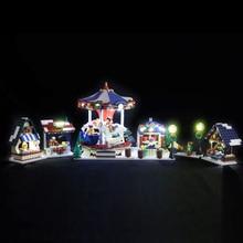 цена Led Light For Lego 10235 Christmas Winter Village Market Compatible 36010 Building Blocks Bricks Toys (only light+Battery box) онлайн в 2017 году