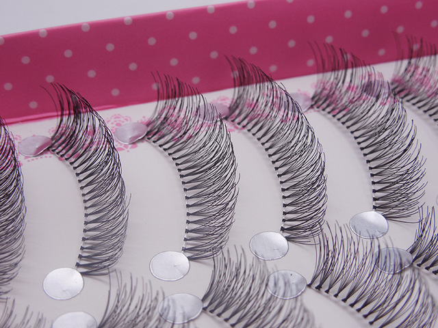 Black 10 pairs natural long false eyelashes
