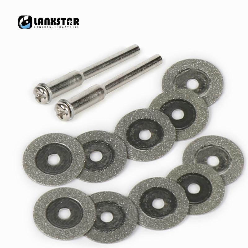 New 12PC Diameter 16mm Diamond Cutting Disc for Dremel Accessories Grinding Wheel Abrasive Rotary Tool Circular Saw Blade