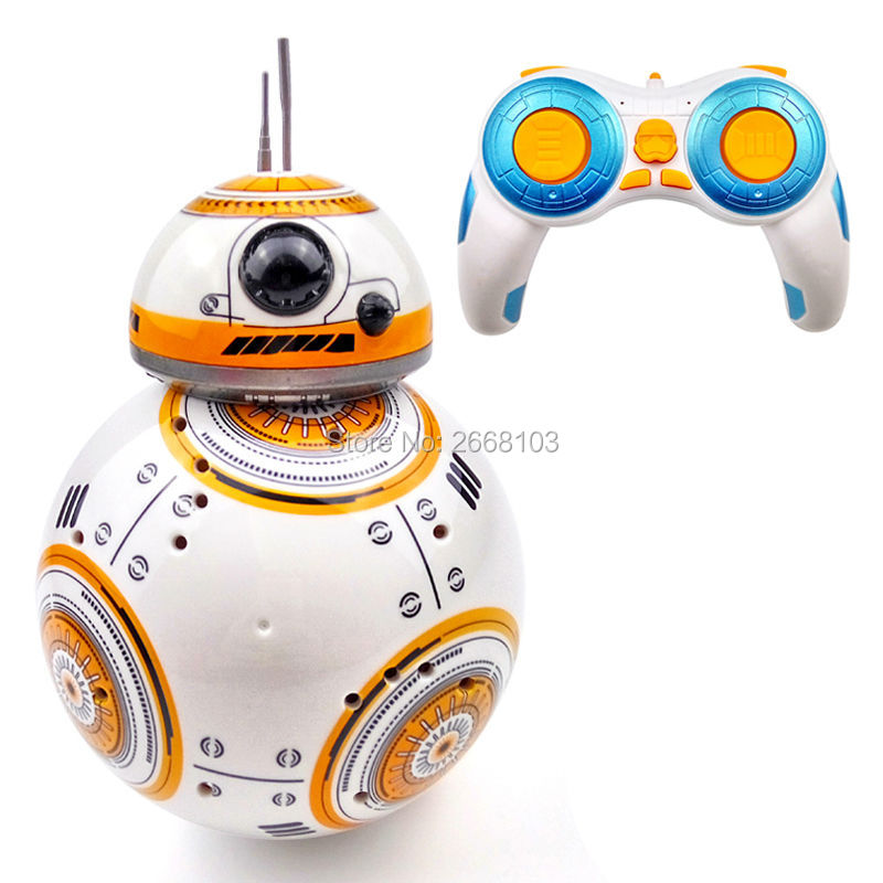 Uuenda mudeli kuuli Star Wars RC BB-8 Droid Robot BB8 intelligentne robot 2.4G kaugjuhtimispuldi mänguasjad tüdrukute kingitustele heliga