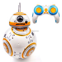 Upgrade Model Ball Star Wars RC BB 8 Droid Robot BB8 Intelligent Robot 2.4G Remote Control Toys For Girl Gifts With Sound Action