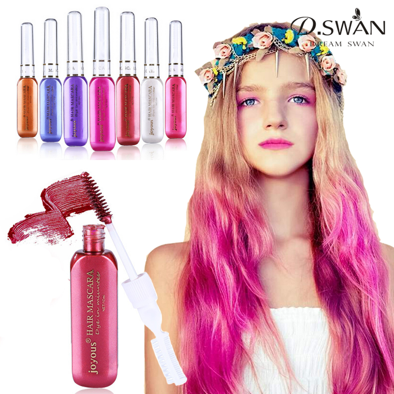 Fashion Hair Color Temporary Hair Dye Cream Fast Dry Washable Hair Color Highlights Dyeing 7