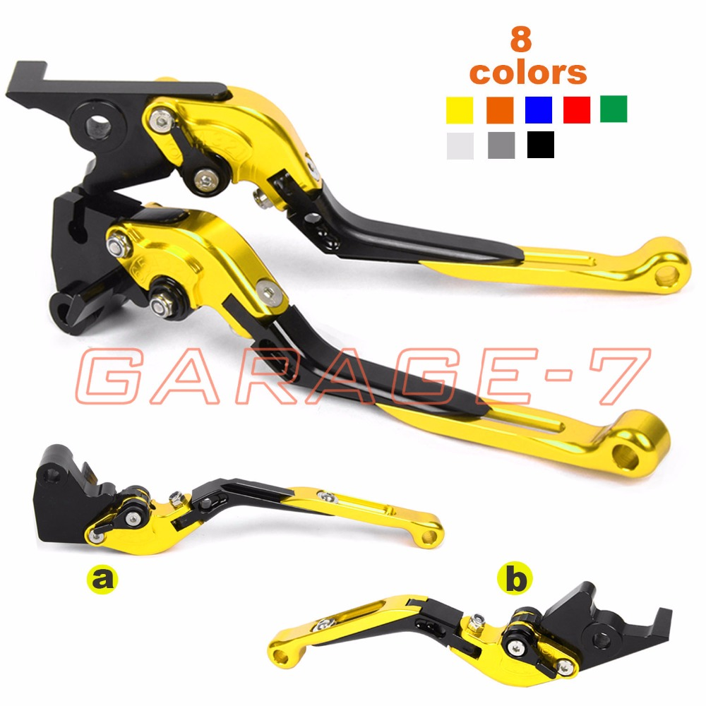 For Yamaha FZ8 FZ1 FAZER/GT MT-07/FZ-7 XSR 900 700 ABS CNC Motorcycle Foldable Extendable Brake Clutch Levers Folding Extending cnc billet adjustable long folding brake clutch levers for yamaha fz6 fazer 04 10 fz8 2011 14 2012 2013 mt 07 mt 09 sr fz9 2014