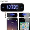Mini Transmisor Inalámbrico de 3.5mm Música Audio del Transmisor FM En el coche Para iphone 4 5 6 6 s plus samsung ipad mp3 del coche transmisor
