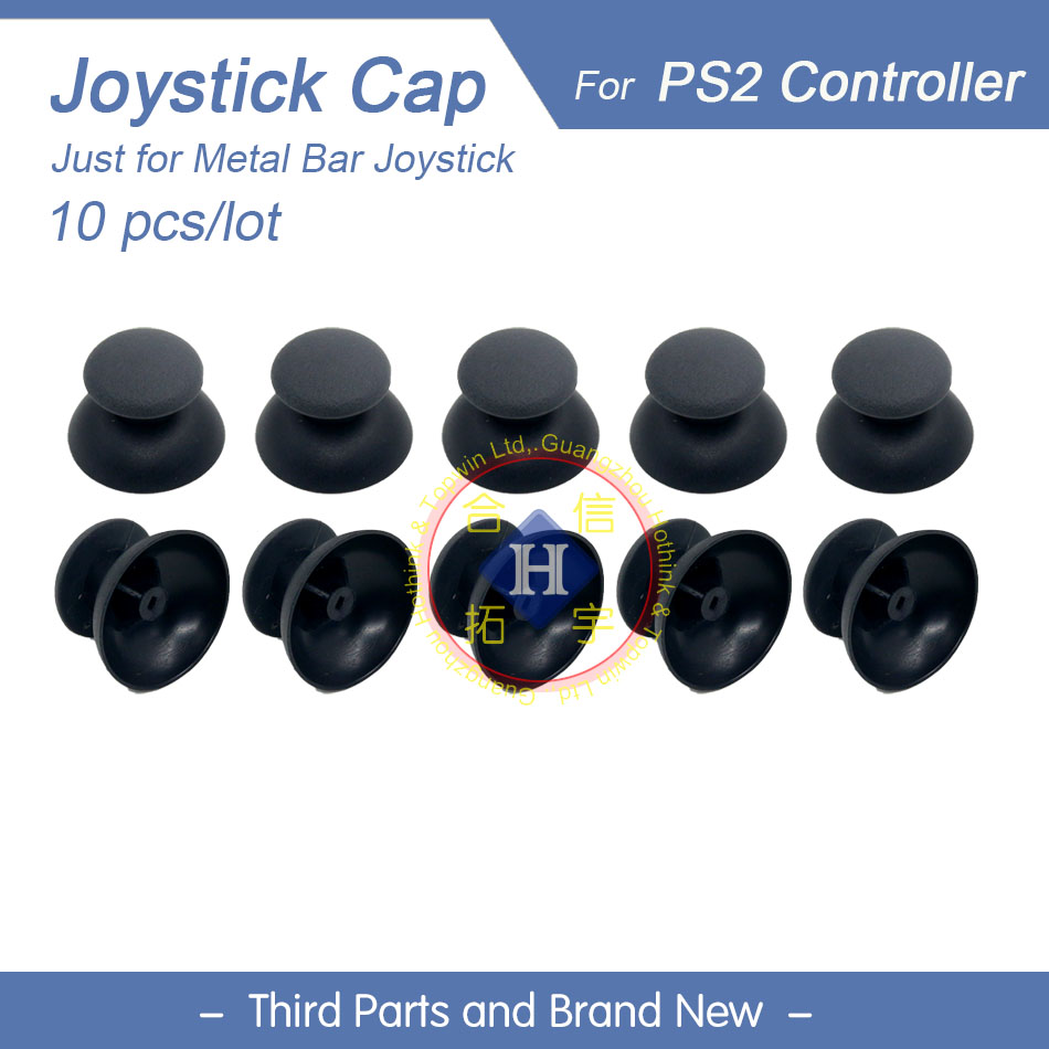 HOTHINK 10pcs/lot New Replacement 3D Joystick Analog Cover Cap Small Hole For PS2 Controller Playstation 2 Gamepad