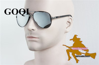 GOQI Supply Rubber Legs Alloy Frame Rivet Polarized Men Sunglasses Office Cool Man Vintage Popular Gafas