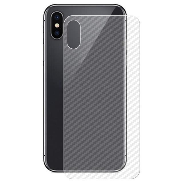 huge discount 71b6e 0a1c5 10PACK 3D Carbon Fibre Skin Sticker Back Film For iPhone X 7 Plus 8 Plus 6  6s 5 5s SE Rear Screen Protector Not Tempered Glass