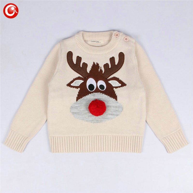 1-5y 2016 AutumnWinter Fashion Toddler Kids Girls Deer Sweater Long Sleeve Crochet Knitted Top For Christmas Kids Boys Cardigan (1)