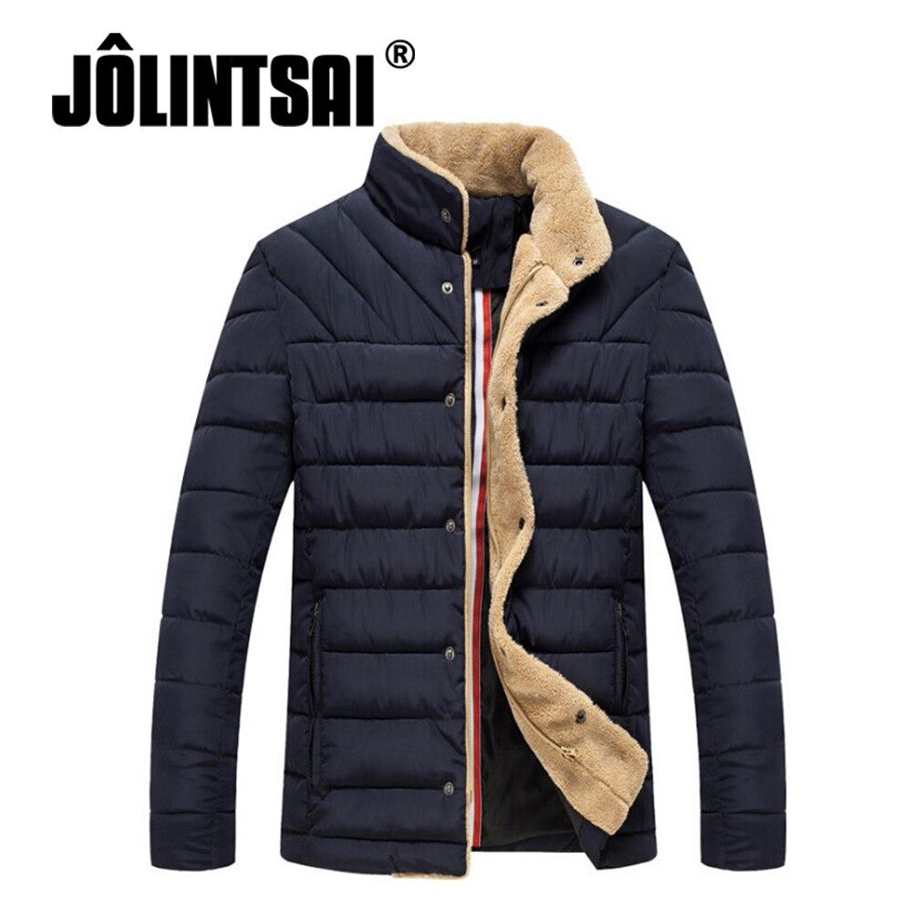 Black Friday Winter Jacket Men 2017 Solid Stand Collar Parka Warm Men Winter Male Jacket Overcoat Casual Coats Oversize 4XL