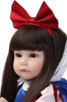 52CM Baby Soft Silicone Dolls Reborn Baby Dolls Snow White Princess Dolls Girl Birthday Gifts Long Hair Toys Kid's Playmate