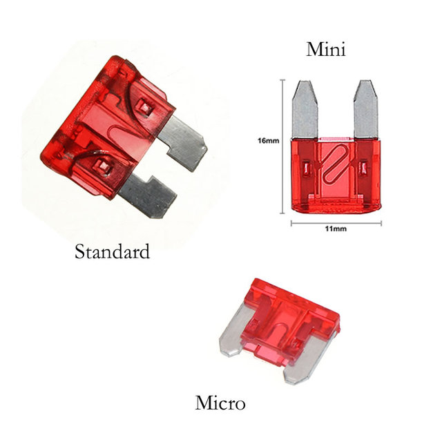 12V Car Fuse Holder Add-a-circuit TAP Adapter Micro/Mini/Standard ATM APM Blade Auto Fuses with 10A Blade Car Fuse with holder