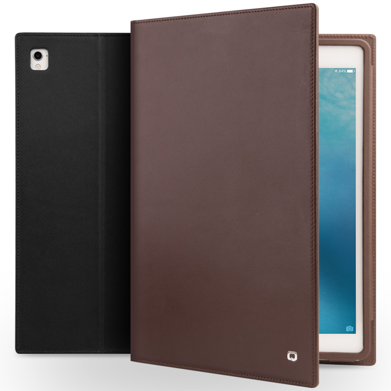 QIALINO Véritable Sac En Cuir Cas Ultra-Mince pour iPad Pro 9.7 Cas Flip Stents Dormance Couverture de Stand Card Slot cas pour iPad air2