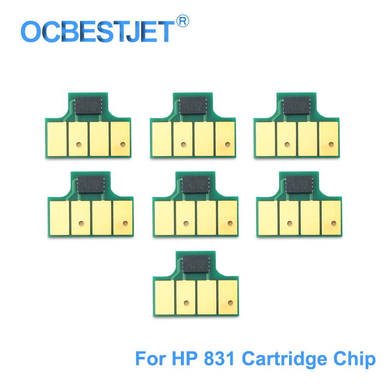 For HP 831 Ink Cartridge Chip For HP Latex 110 310 315 330 335 360 365 370 560 570 L360 L365 L330 Printer (BK C M Y LC LM OP)