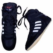 Pro Ботинки для РЕСТЛИНГА для Для мужчин Бокс Обувь Pro Wrestling Шестерни Бокс Сапоги и ботинки для девочек Профессиональный Ботинки для РЕСТЛИНГА Для мужчин леер chinees