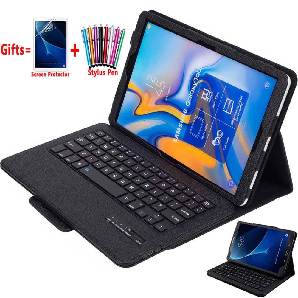 Съемная клавиатура Bluetooth кожаный чехол для Samsung Galaxy Tab A A2 10,5 2018 T590 T595 SM-T590 A6 10,1 2016 T580 T585 крышка