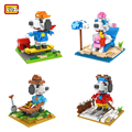 Loz diamond building blocks classic japanese anime cartoon snoopie nano series ensamblar ladrillos de juguete de regalo para niños juguetes educativos