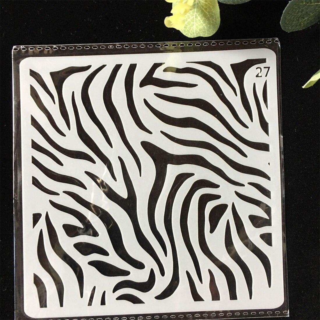 1Pcs 13cm Wood Texture DIY Layering Stencils Wall Painting Scrapbook Coloring Embossing Album Decorative Card Template