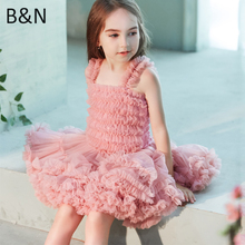 Buenos Ninos New Girls Fluffy Dance Tutu Dress Ball Gown Princess Party Ballet Pettiskirts Kids Dresses For Girl 1-10T buenos ninos красная роза s