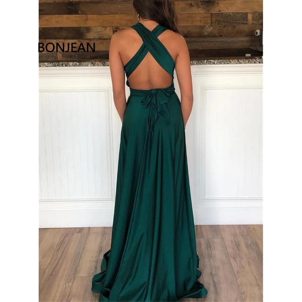 Gorgeous Dark Green Evening Dress with Slit Long Formal vestido de festa Sweetheart Chiffon Front Slit Evening Party Dress