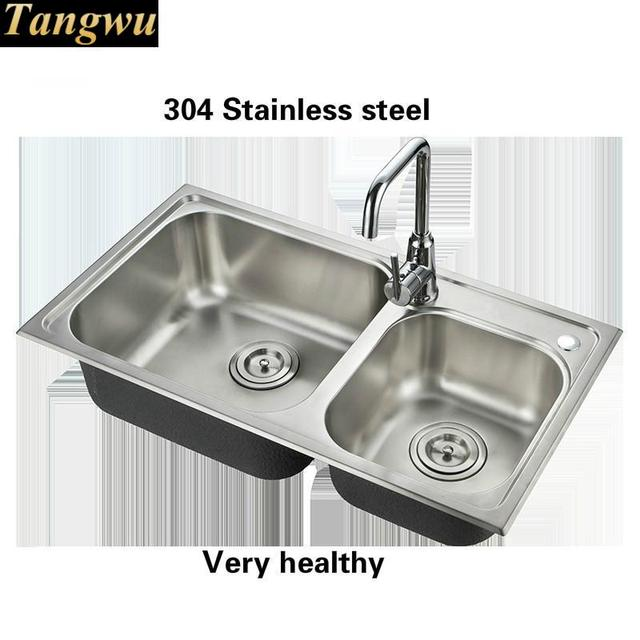 Tangwu High quality stainless steel kitchen sink household double ...