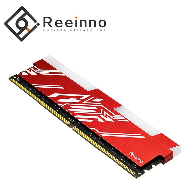 Reeinno marque RGB ram 8 GB DDR4 1.2 V 288pin PC4-19200 horloge 2666 MHz CL = 19 pour PC jeu ram garantie à vie pour bureau