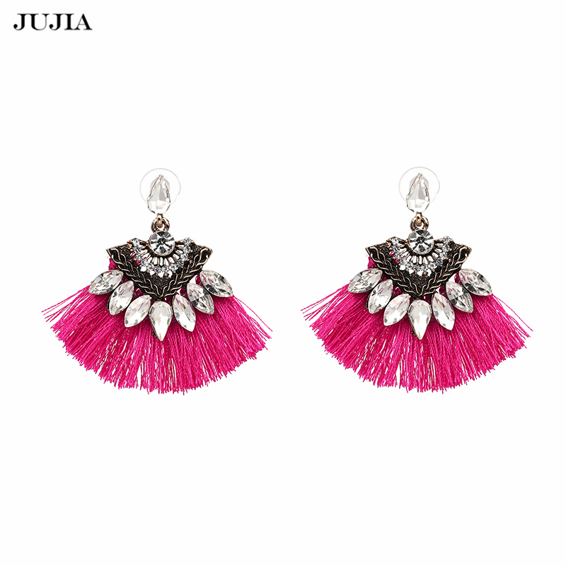 Vintage Fringing drop Earrings Fashion 2017 brand Boho Maxi luxury Dangle Tassel Earrings for Women Jewelry
