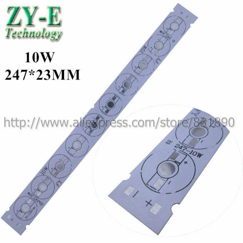 10 pcs/lot LED PCB Aluminum baord plate 10W 247*23mm pcb for 1W 3W 5W Tube light floodlight Ceiling light replace led strip pcb