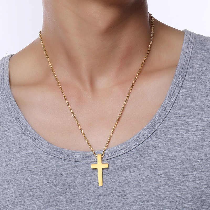 "Meaeguet 新クリスチャン男性の女性十字架男性永遠教会クルス宗教ネックレス 20 ""チェーン"