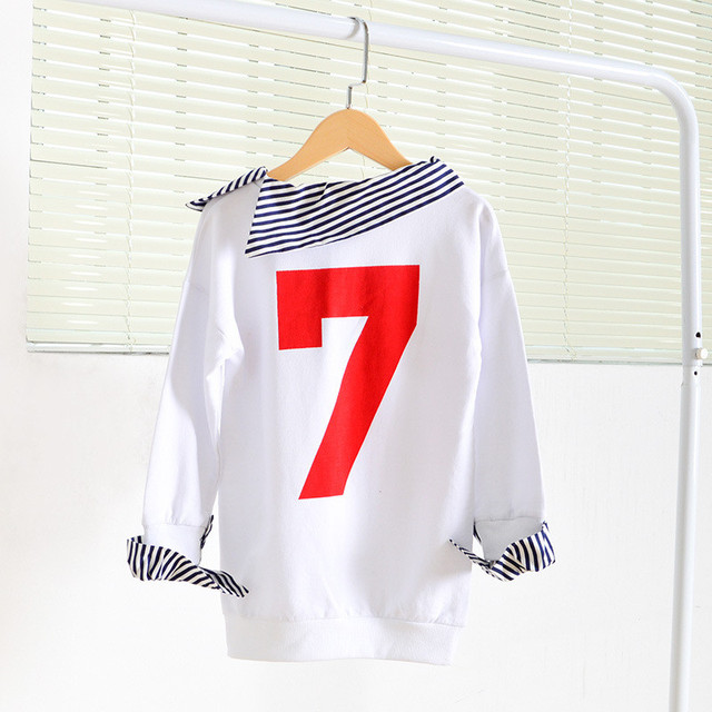 New 2016 Children Fashion Hoodies letter print Girls Sweatshirts 2colors kids Long Sleeve T-shirts girls Fashion Tops