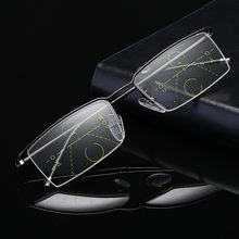 Nuevo Medio marco gafas zoom inteligente lectura multifocales progresivas  gafas hombres mujeres presbicia hipermetropía . 539518d62b52