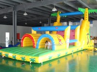 2017 PVC commercial grade inflatable obstacle course game/inflatable sports game for sale