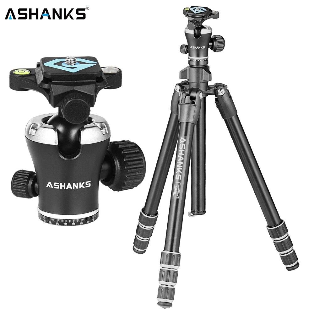 ASHANKS A666 trépied caméra 55.9 ''/142cm professionnel vidéo voyage caméra trépied aluminium rotule compacte pour reflex numérique DSLR