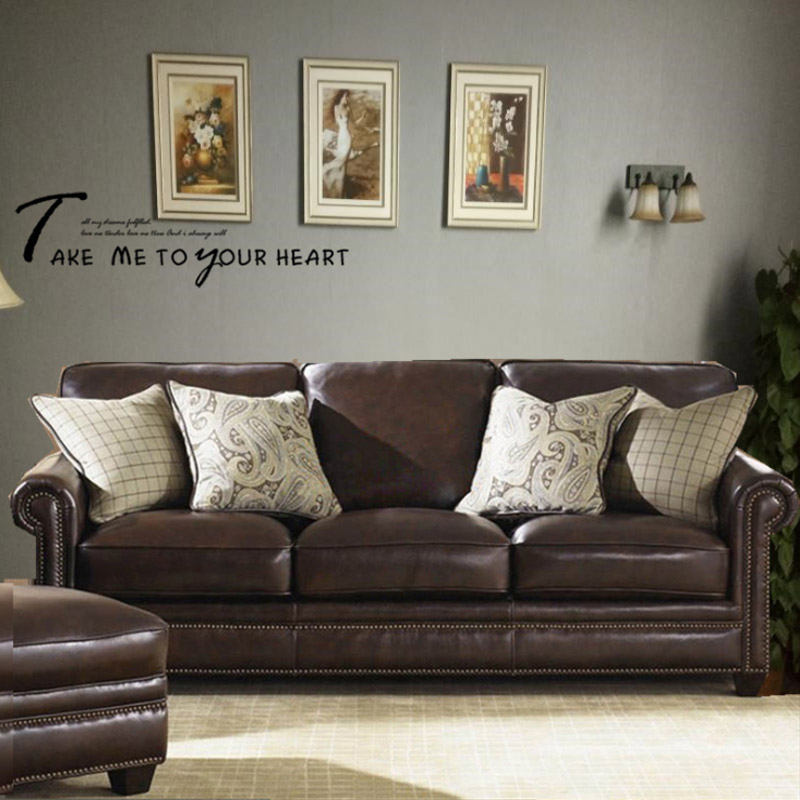 Leather sofa American style living room apartment model room sofa European furniture corner L-shaped combination leather sofa 2