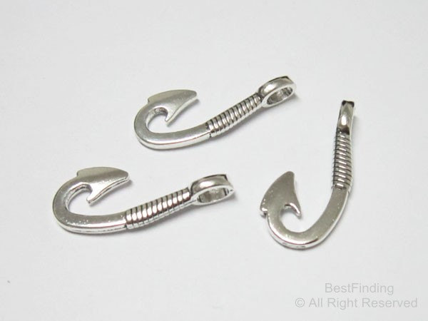 Fishhook clasp half cuff barb hook clasp Bracelet cord connector in Jewelry Findings Components from Jewelry Accessories