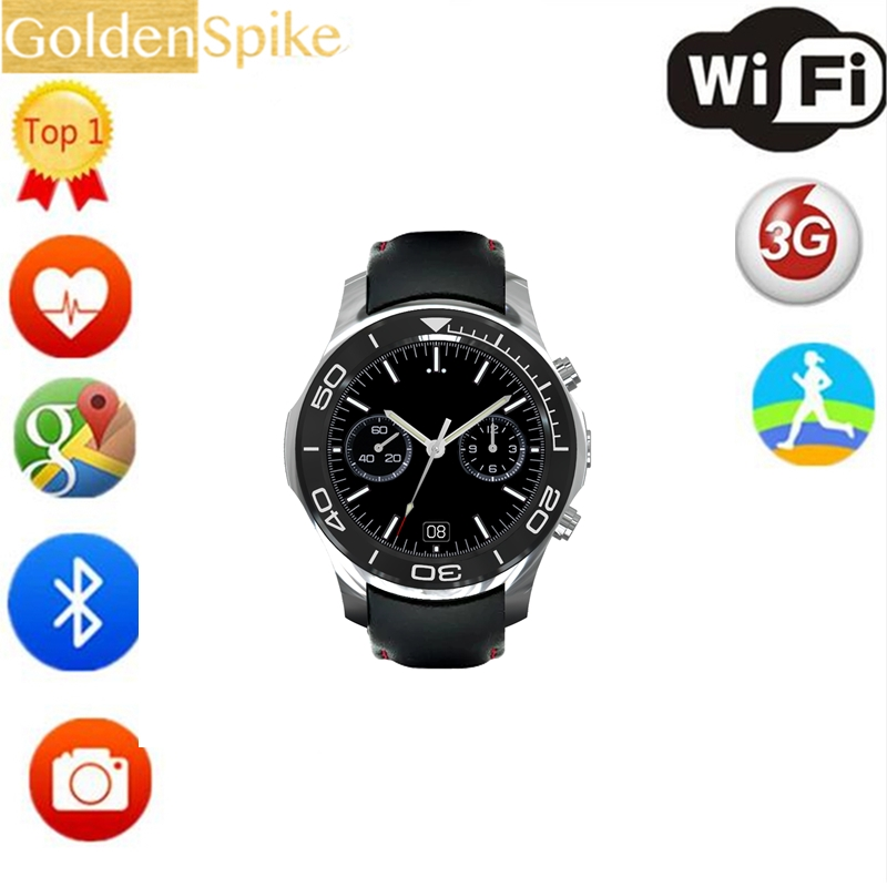 2017 New S1 plus Android Smart Watch 1.3inch Round MTK6580 ROM 8GB RAM 512MB with 3G gps Wif 2.0mp camera for Android smart baby watch q60s детские часы с gps голубые